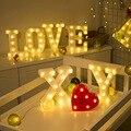 Gold Luminous 26 English LED Letter Night Light Alphabet Number Lamp Christmas Wedding Birthday Party Propose Decoration