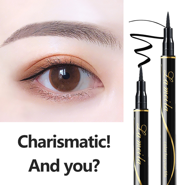 Waterproof Black Liquid Eyeliner Pencil Big Eyes Makeup Long-lasting Eye Liner Pen Make up Smooth Fast Dry Cat Eye Cosmetic Tool 2