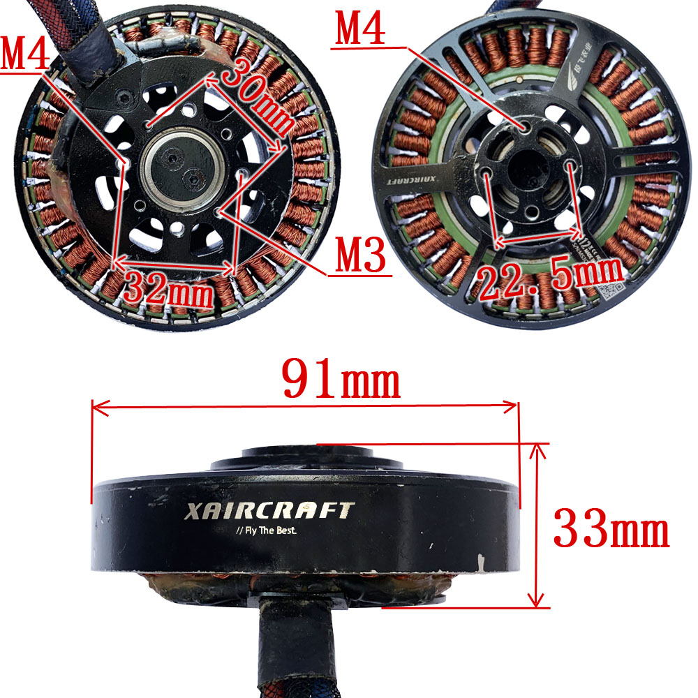 A12 Xaircraft 8318 KV120 Brushless Motor A12 HLY Upgraded version Motor for Agriculture UAV drone RC Plane Brushless Outrunner
