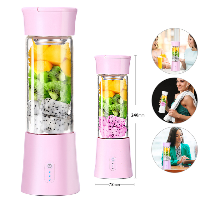 Portable Blender USB Mixer Electric Juicer Machine Smoothie Blender Mini Food Processor Personal Lemon Squeezer Orange Juicer 2