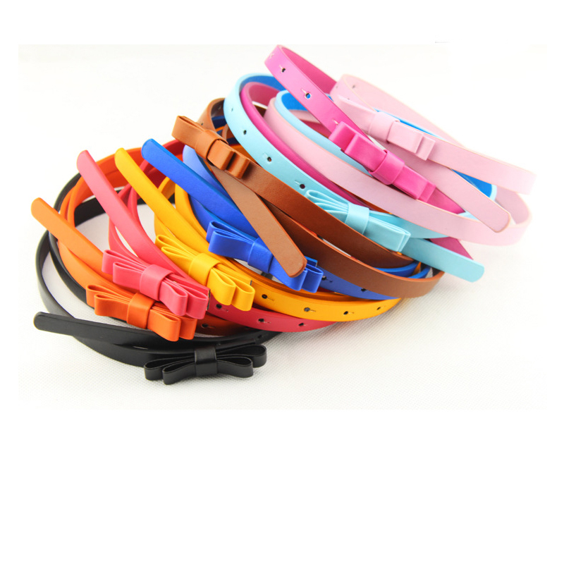 Candy Colours Strap Belt For Women Dress Jeans Faux Leather Belt Waistband Vintage Thin Belts Yellow/Pink/Green/Red Color