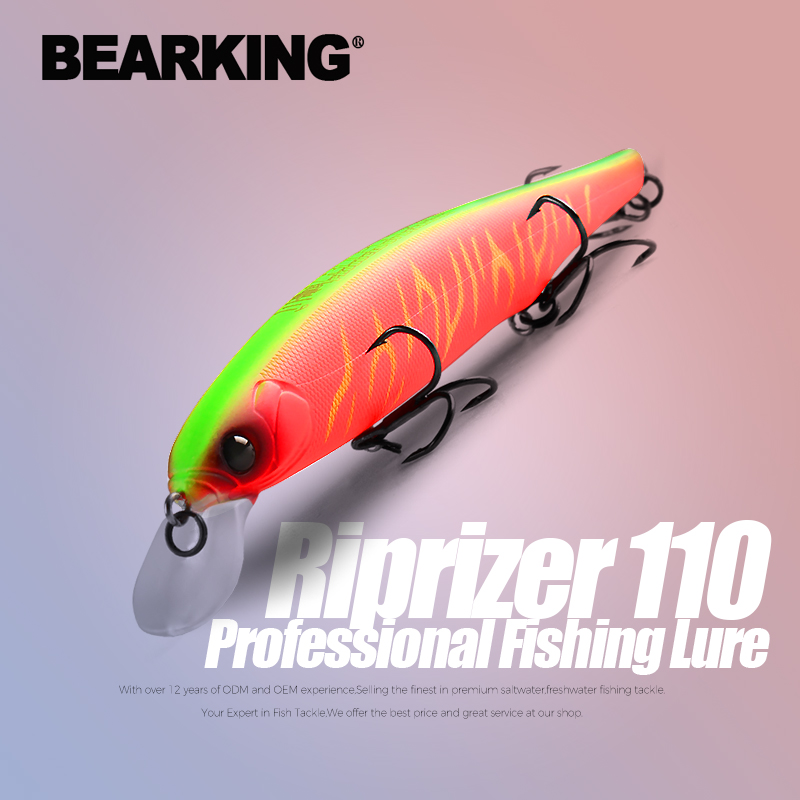 Bearking melhor preço riprizer 110 jerking bait 11cm 15g mergulho 1.5m wobblers carpa iscas de pesca artificial tackles