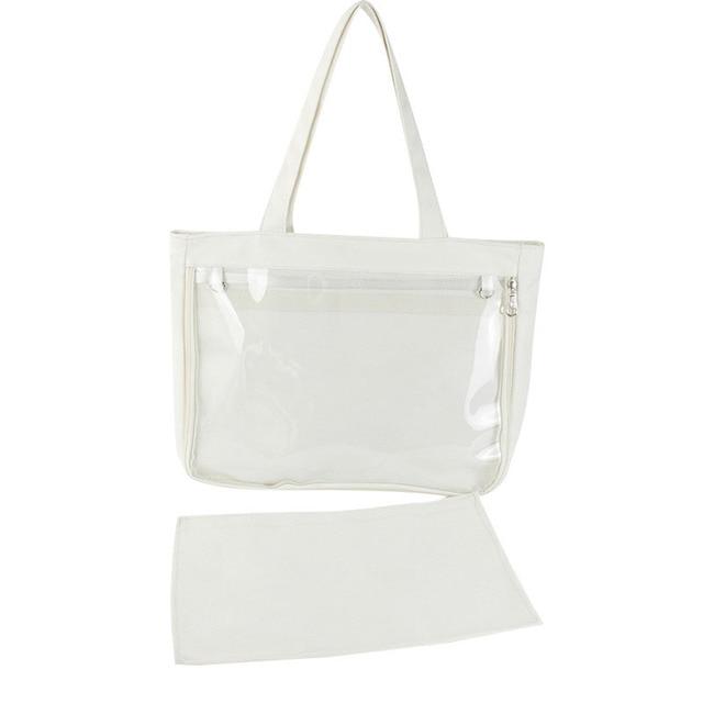 Ita Bag Japanese Lolita Transparent Shoulder Bag Canvas Single Side Transparency Handbag For Dango Badge Show Itabag Shoulder Bags Aliexpress