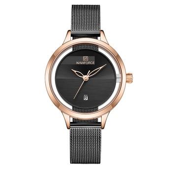 New NAVIFORCE Creative Simple Quartz Watch Women's Steel Mesh Dress Watches Girl Clock Ladies Bracelet Watch Relogios Feminino 10