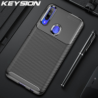 Keysion Antiurto per Il Caso di Huawei Honor 9X Globale Versione in Fibra di Carbonio di Protezione Completa Copertura Posteriore Del Telefono per Honor 9X Premium 8X
