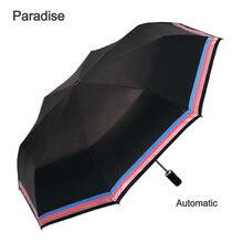 Reflektierende streifen Automatische Regenschirm Regen Frauen Auto Luxus Große Winddicht Regenschirme Regen Für Männer Falten Sonnenschirm