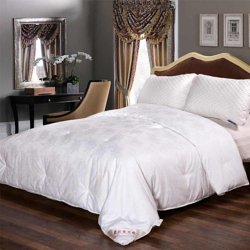 جميع الموسم الفاخرة الأبيض المعزي مع غطاء القطن فائقة لينة تنفس لحاف لحاف مخصص حجم غطاء لحاف حشو إدراج