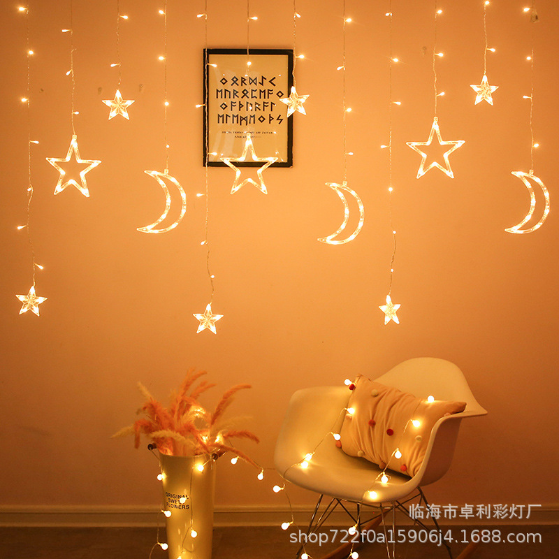 led colored lights different height curtain lights ins home dressing plug-in colored lights gift decorative lights string line