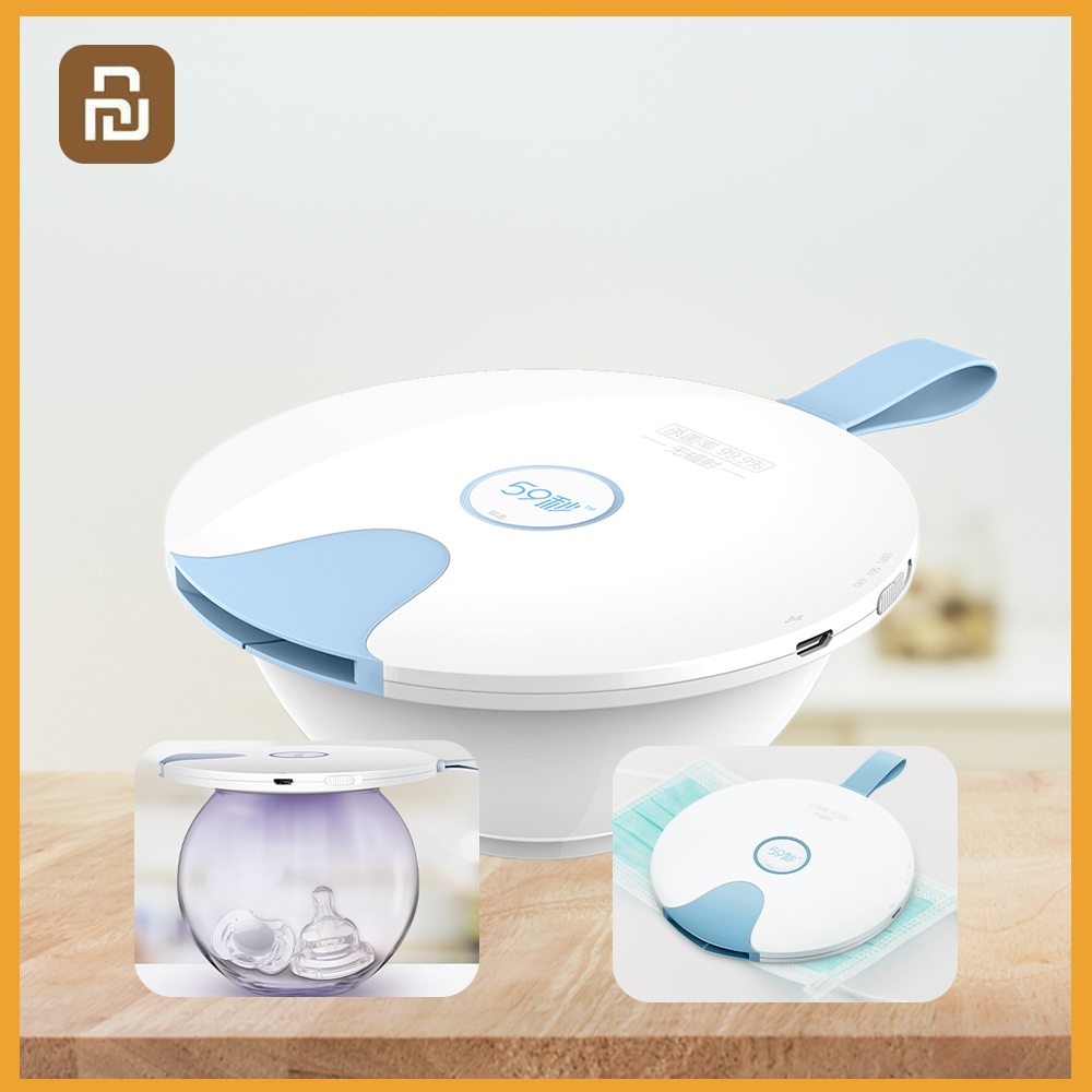 Youpin 59S Multi-function UV Sterilizer Sterilizer S8 Portable Sterilizing Cover For Puff Baby Tableware Milk Bottle Coffee