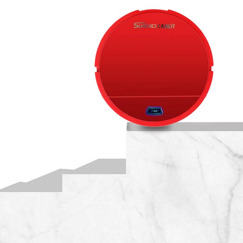 Roboter-staubsauger Nass Reiniger Kehrmaschine Staub Trockenen Roboter und Boden Roboter Smart Vakuum Automatische Smart Kehrmaschine Batterie Edition Red
