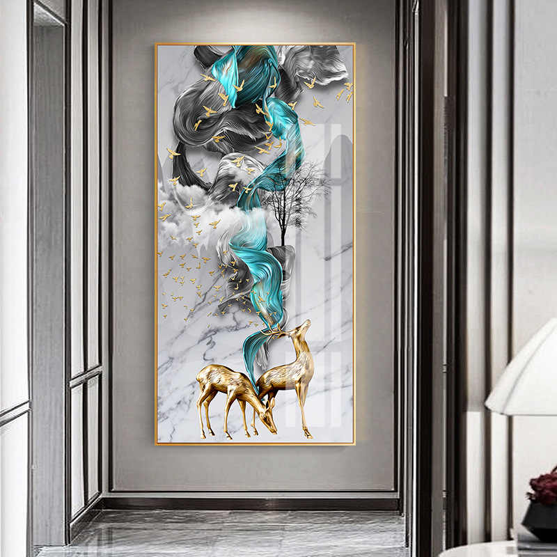 Abstract Art Frame Canvas Painting Landscape Wall Art Print Poster HD Landscape Modular Pictures for Living Room Home Decor