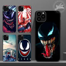 Venom Funda for Case iPhone 11Pro Max case Spiderman for iPhone 6S 5 5S SE 6 7 8 Plus XS Max XR Phone Cover Case for iPhone 7 black cover japanese samurai for iphone x xr xs max for iphone 8 7 6 6s plus 5s 5 se super bright glossy phone case