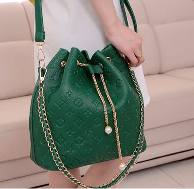 Hot Selling Bucket Bag Pearl Pull-belt Korean-style Casual WOMEN'S Bag Da Kou Bao Women's Single-shoulder Bag