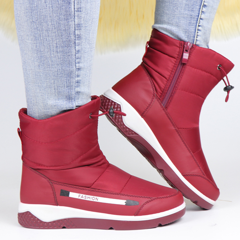 Women Boots Winter Ankle Boots Femmes Bottes Waterproof Wedge Shoes Women Platform Boots Ladies Zipper Botas Warm Botas De Mujer