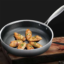 Сковорода Из Нержавеющей Стали, антипригарная сковорода, газовая плита и индукционная плита, многоцелевая кухонная посуда, используемая дл...