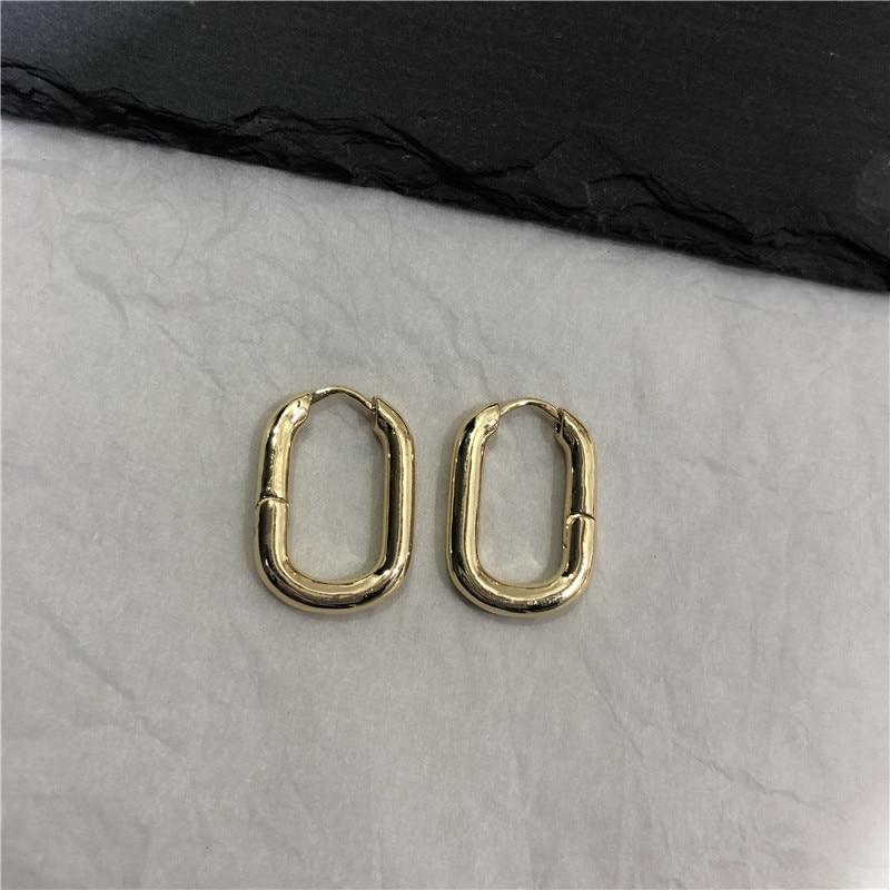 French minimalist retro metal surface earrings HOOP stylish U shaped trendy chandelier indian earrings jewelry in Drop Earrings from Jewelry Accessories