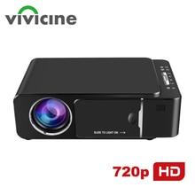 VIVICINE 1280x720p Портативный HD проектор, опция Android 7,1 HDMI USB 1080p домашний кинотеатр проектор wifi мини светодиодный проектор
