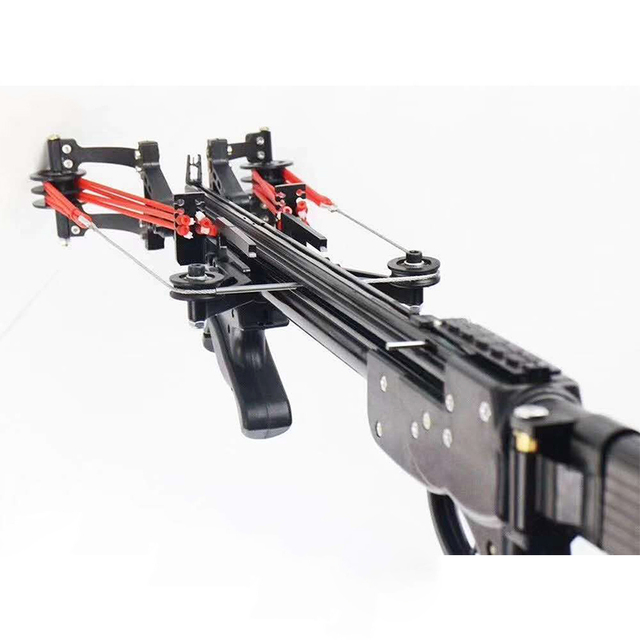 Wolf King Enhanced Edition Rifle Slingshot Hunting Catapult Powerful Semi-automatic 40BB Slingshot For Hunting and Shooting WK04 2