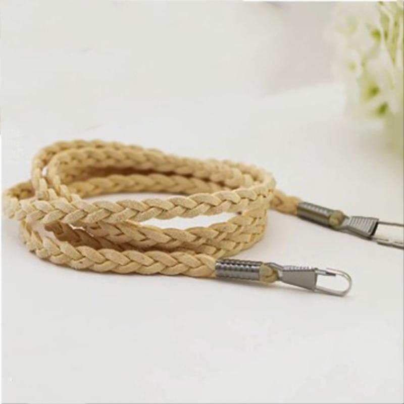Ceinture de rechange pour sac à main et poignée tendance pour sac à main, sangle en couleur unie, chaîne tissée, ceinture, accessoire de sac en bandoulière