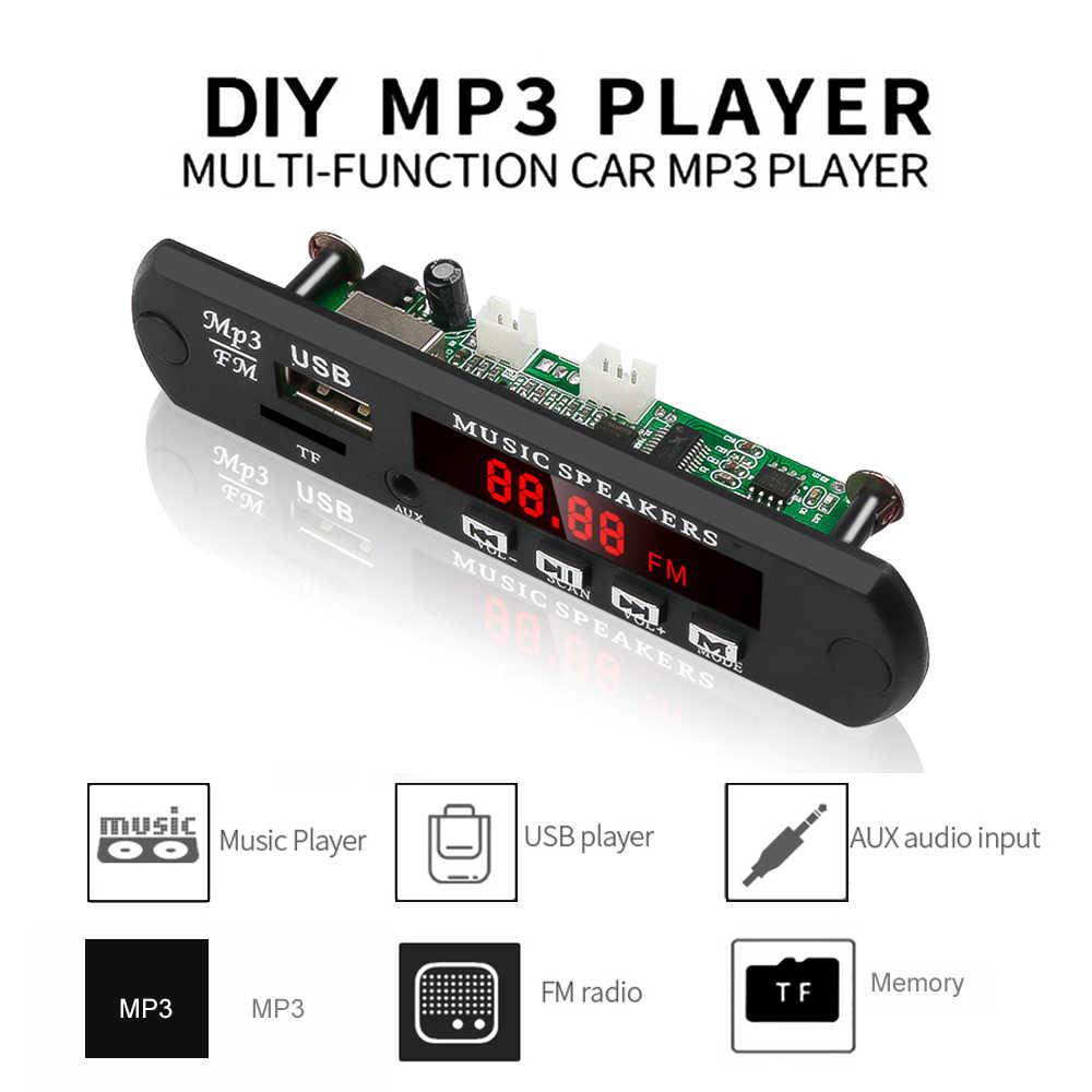 وحدة فك تشفير MP3 WMA WAV بدون بلوتوث مشغل MP3 صوت السيارة USB TF راديو FM وحدة 5 فولت 12 فولت مع جهاز تحكم عن بعد للسيارة