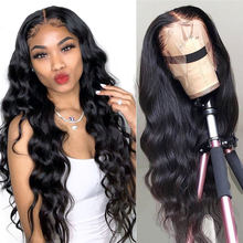 Body Wave Wig Transparent Lace Frontal Wigs 28 30 Inch Long T Part Brazilian Wavy Body Wave Lace Front Human Hair Wigs For Women
