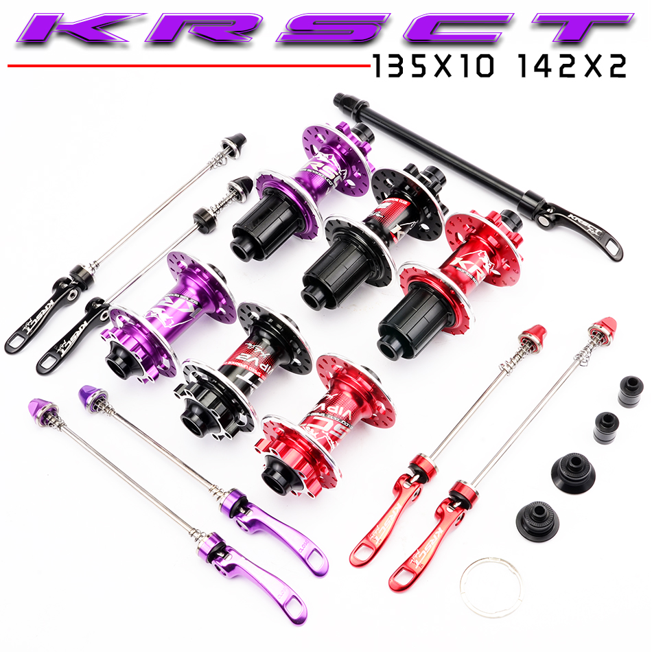 KRSCT Front Rear <font><b>Hub</b></font> 32 <font><b>Holes</b></font> <font><b>Bicycle</b></font> <font><b>Hub</b></font> QR Thru Axle 5 Bearing 6 Latches 72 Clicks AM FR MTB Mountain Bike Ultralight 465g image