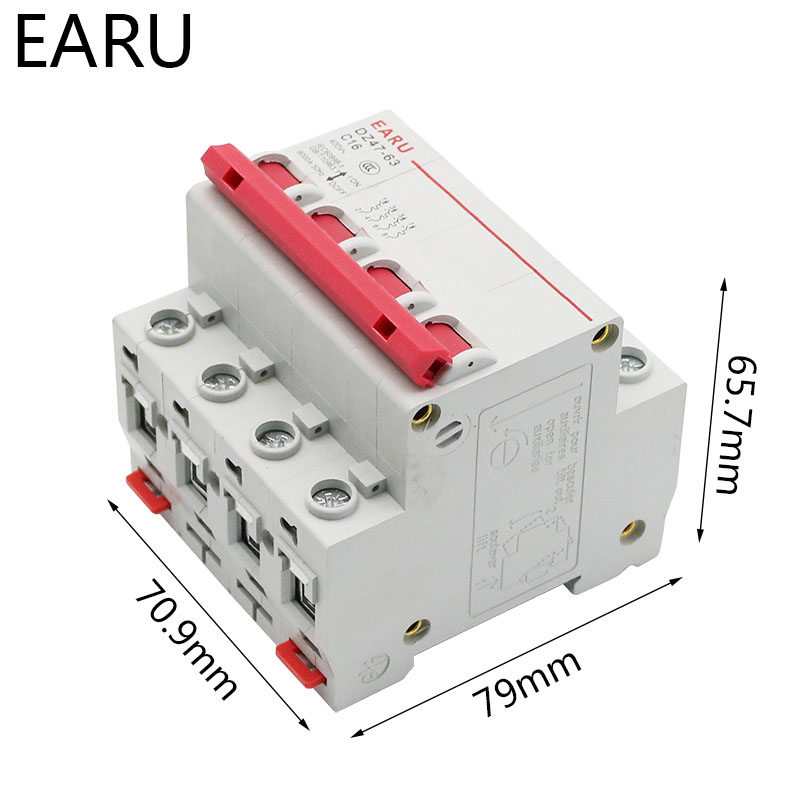 He4e061615b4f45979271d96c3597602eq - DZ47 1-4 Pole 3A/6A/10A/16A/20A/32A/40A/50A/63A 400V C Type Mini Circuit Breaker MCB 35mm Din Rail Mount Breaking Capacity 6KA