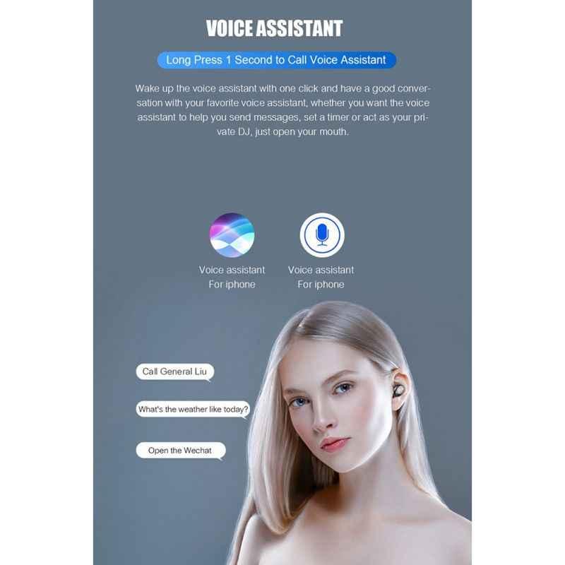 Благодаря эргономичному дизайну наушники-вкладыши TWS Bluetooth 5,0 наушники 3D стерео звук Беспроводной наушники с зарядный чехол для игры/видео