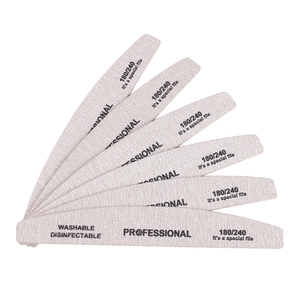 50 шт. серая деревянная пилка для ногтей, 180/240 Профессиональная деревянная пилочка для ногтей, 100/180 Наждачная доска, УФ-гель для маникюра, блок...