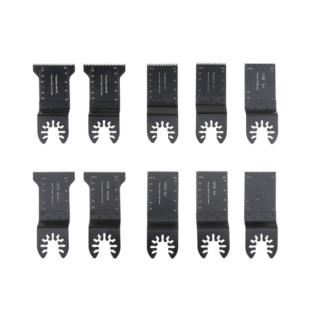 10pcs Multimaster Saw Blade Oscillating Rotary Multitool Wood Cutting Grinding Sanding Polishing Set Cuts Embedded Wood Quality