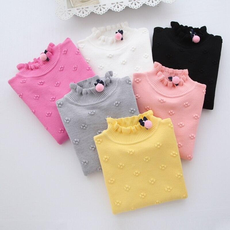 Новинка 2020 весенне зимняя детская одежда свитер для девочек детские вязаные