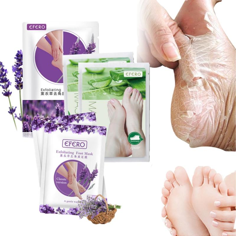 1 Pair Lavender/Aloe Peeling Foot Mask Remove Dead Skin Heels Foot Peeling Mask Exfoliating Repairing Feet Mask Foot Care TSLM1