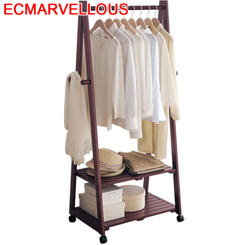 Armario Kleerhanger Decorativos Pared Appendiabiti Wooden Cintre Cabide Perchero De Pie Wieszak Coat Rack Clothes Stand