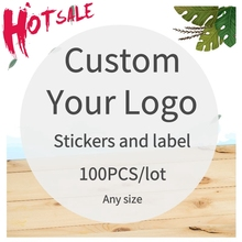 Custom Sticker And 100PCS Food--Beverage-Labels Design-Your-Own-Stickers/personalized