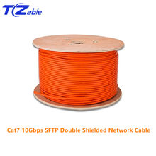 Kabel sieciowy RJ45 Cat7 szybkość 10 gb/s SFTP z podwójnym kołnierzem czysta miedź inżynierii AWG23 LSZH obsługuje FTTH kabel Ethernet