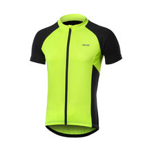 ARSUXEO Summer Men's Short Sleeve Cycling Jersey 2020 Breathable Quick Dry MTB Bicycle Shirt Road Mountain Bike Clothing(China)