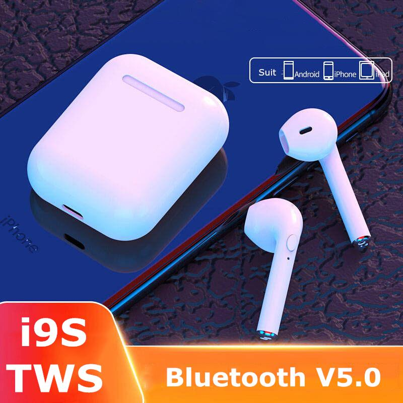 I9s <font><b>Tws</b></font> Headphone Wireless Bluetooth 5.0 Earphone Mini Earbuds With Mic Charging Box Sport Headset For Smart Phone image