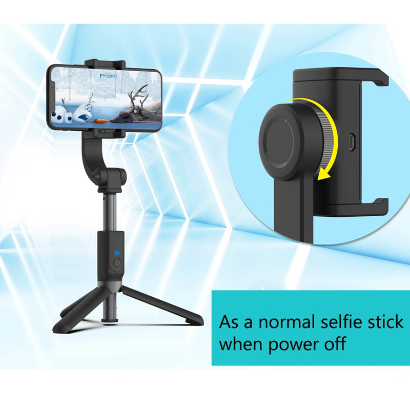 Anti-Shake Rotating Tripod Bluetooth Selfie Stick Extendable Foldable Mobile Phone Stabilizer For Iphone For Samsung For Huawei
