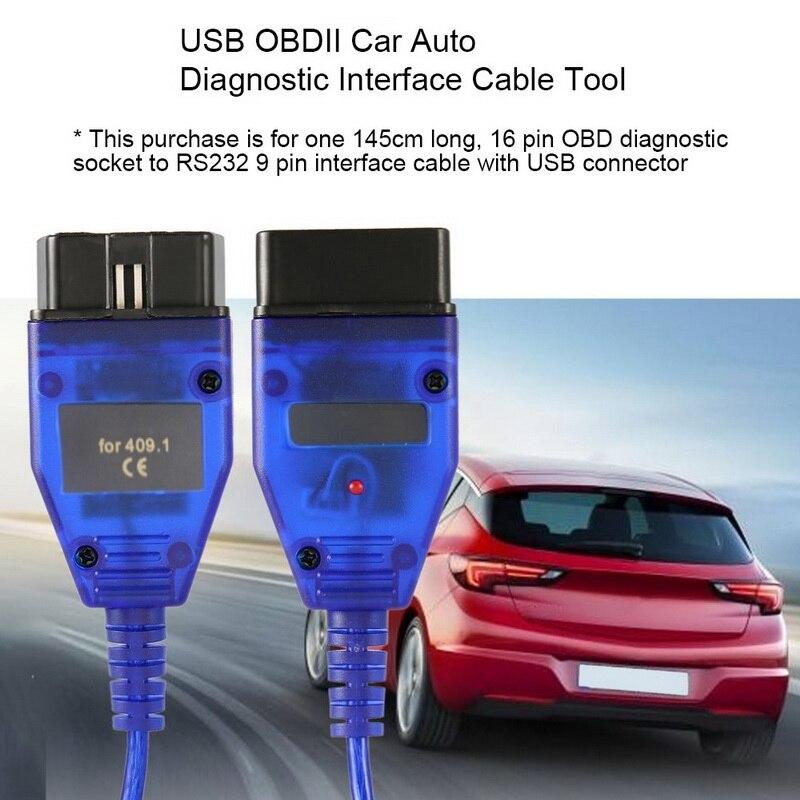 Usb VAG-COM 409.1 vag com 409com vag 409 kkl obd2 cabo de diagnóstico usb scanner cabo automático aux para v w audi seat volkswagen skoda