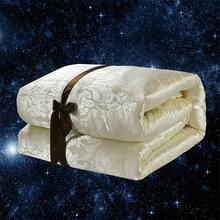 Luxury 100% Silk Comforter Mulberry Blanket Quilt Duvet for Summer & Winter King Queen Twin Size Handmade Patchwork Silk Filler
