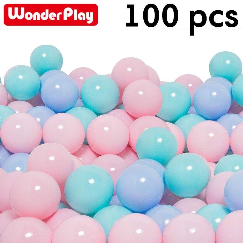 100 Bebê bola para piscina seca pçs/lote bolas de plástico Macio oceano Bola pits Toy Engraçado para Crianças Wter Banho de Piscina Nadar 5.5 centímetros de Diâmetro