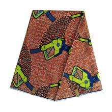 cotton African wax veritable dutch Printed in fabric block wax ankara 100% cotton 6yards hot sale for african woman V-L 656 цена