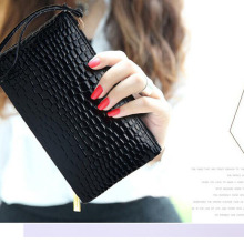 Fashion wallet Custom Lady Leather Women Travel Wallet with handle