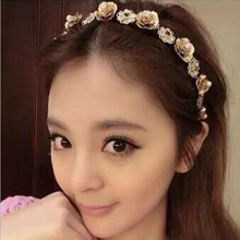baroque rhinestone headband pearl hair accessories wedding crystals womens jewellery hairband