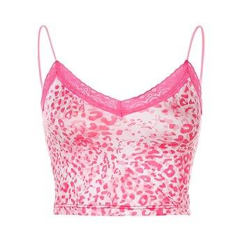 2020 Summer Crop Tops Leopard Prind Slim Women Tops for women ropa mujer Streetwear Tops Vintage Elegant Clothing 2