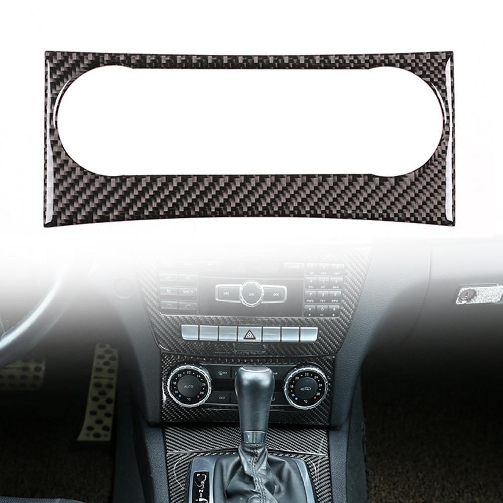 3K переключатель кондиционера из углеродного волокна внутренняя отделка против царапин Авто Декор интерьера для Mercedes-Benz C-class W204 11-13