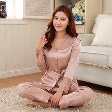 Miłośnicy piżamy zestaw jedwabnych piżam wiosna jesień długość spodnie wypoczynek salon zestaw kobiety mężczyźni szampan piżamy M,L,XL,XXL,XXXL