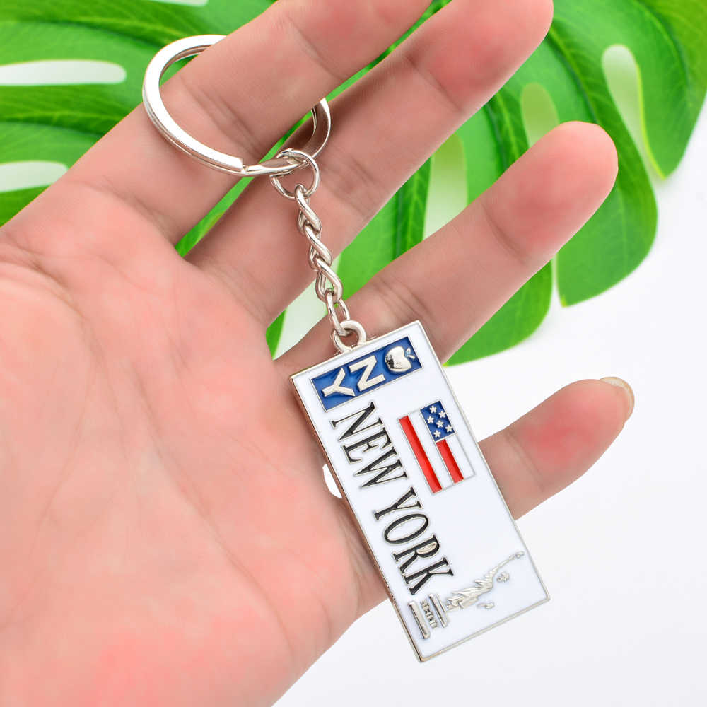 Vicney Nova Iorque Keychain Liga de Zinco EUA Bandeira Chave Chaveiro Cadeia Para Homens Estátua da Liberdade Para A Chave de Alta Qualidade cadeia Chaveiro