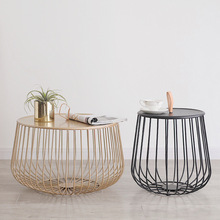 Multi-Functional Tea Table Detachable Iron Art Storage Basket Small Apartment Living Room Bedroom Decorative Sofa Side Table folding elevating table and table scale multi functional storage tea table with stools