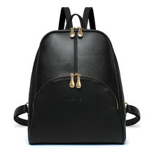 ACELURE Black Red PU Leather Women Backpack Simple Style Fashion Backpacks Bags Preppy Style Teenagers Students Girl School Bag(China)